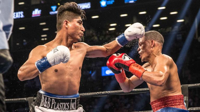 Mikey Garcia and Elio Rojas