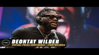 Embedded thumbnail for Deontay Wilder Virtual Press Conference   Full Replay