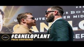 Embedded thumbnail for Canelo Alvarez vs Caleb Plant Kick-off Press Conference   Full Replay