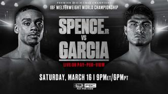 Welterweight Champ Errol Spence Jr. faces four-division titleholder Mikey Garcia March 16 on FOX PPV