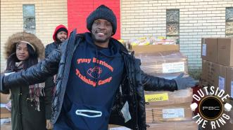Outside the Ring: Tony Harrison hosts Holiday Toy & Grocery Giveaway in his hometown of Detroit