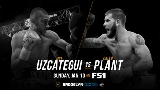Jose Uzcategui defends his IBF Super Middleweight World Title vs unbeaten contender Caleb Plant Jan. 13 on FS1