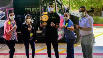 Outside The Ring: Mario Barrios Helps Pandemic First Responders