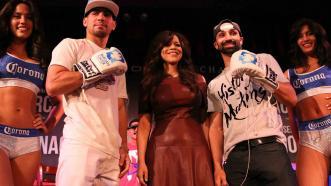 Danny Garcia, Rosie Perez and Paulie Malignaggi