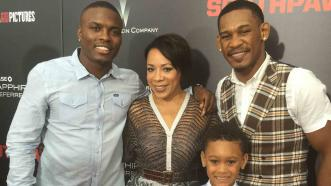 Peter Quillin, Selenis Leyva and Daniel Jacobs