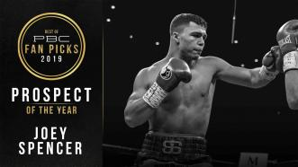 Joey Spencer earns PBC's Prospect Of The Year Award for 2019