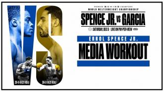 Spence vs Garcia: Errol Spence Jr. Media Workout
