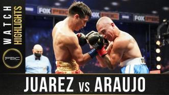 Juarez vs Araujos - Watch Fight Highlights   April 17, 2021