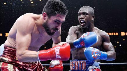 Andre Berto drops Josesito Lopez