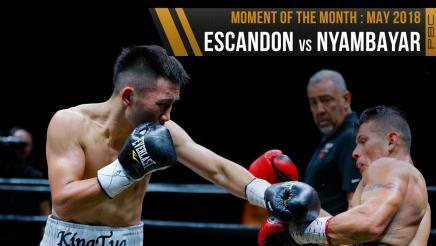May 2018 Moment of the Month: Escandon vs Nyambayar