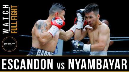Escandon vs Nyambayar - Watch Video Highlights   May 26, 2018