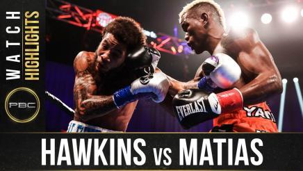 Hawkins vs Matias - Watch Fight Highlights   October 24, 2020