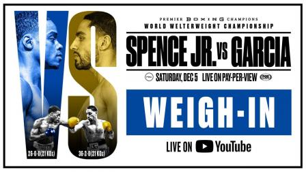 Spence vs Garcia Weigh In