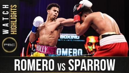 Romero vs Sparrow - Watch Fight Highlights   January 23, 2021