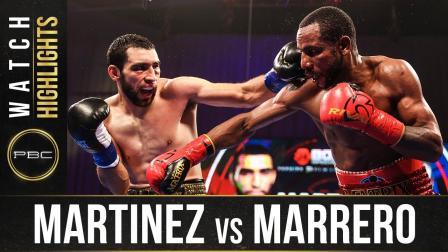 Martinez vs Marrero - Watch Fight Highlights   October 24, 2020