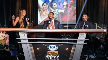 Shawn Porter and Kate Abdo interview Manny Pacquiao